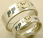 music notation inlay ring