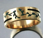 vine inlay ring