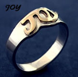 gold and silver ring - Joy