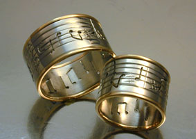 platinum music score rings